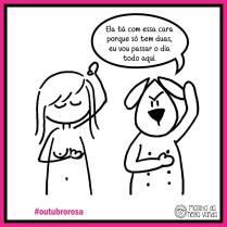 Campanha Outubro Rosa.