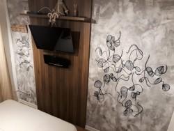 Pintura ciranda em parede de residência - Pelotas-RS.