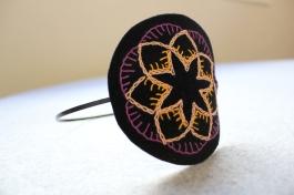 Tiara bordada da Coleção Mandalas - 2013.